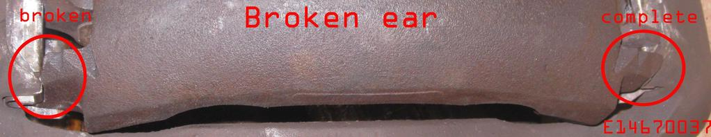 We do not braise, weld or otherwise attempt to re-attach broken pieces to a casting.