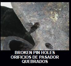 REJECT We do not braise, weld or otherwise attempt to repair damaged guide pin holes in