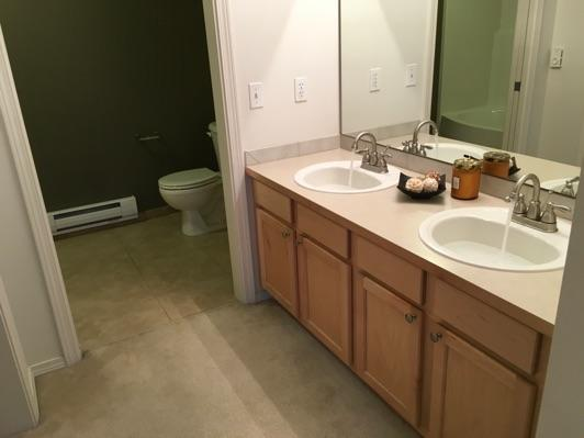 1. Room Master Bathroom Ceiling and walls are in good condition overall.