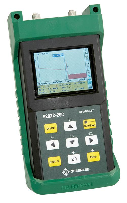 Optical Time Domain Reflectometer (OTDR) Single ended measurement Locates individual insertion and return losses in the fiber link Full reporting for compliance and later during