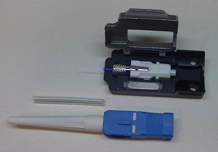 Splice on Connectors Low insertion Low return loss Splice protection sleeve is located in the strain relief No splice