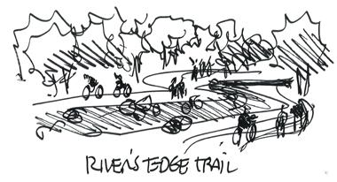 adversely impacted by prior activity. Connected/Looped/Shaded/Multi-Use Trails - The groups stated a desire for a well-connected, looped and shaded multi-use trail system along the river corridor.