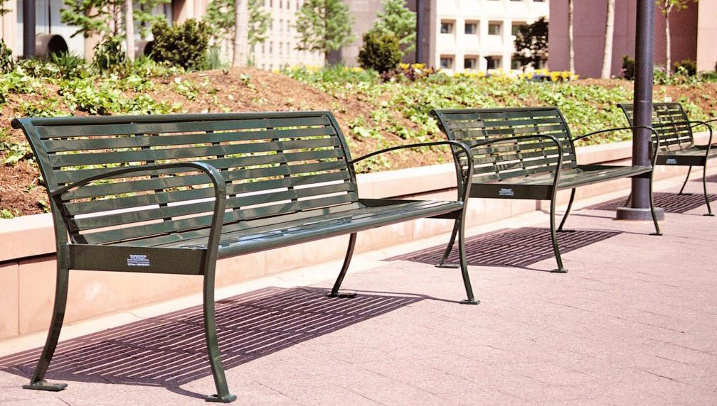 Benches, Bike Racks & Waste Receptacles Design Intent: 1. Streetscape amenities are intended to consist of benches, street lights, bike racks, bus shelters, trash receptacles and similar furnishings.
