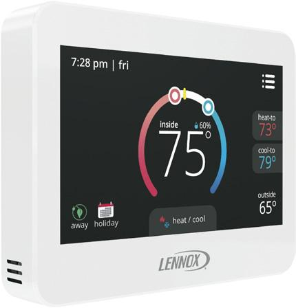 MAINT OPTIONAL CONVENTIONAL TEMPERATURE CONTROL SYSTEMS Item COMFORTSENSE 7500 COMMERCIAL 7-DAY PROGRAMMABLE THERMOSTAT Optional Accessories Four-Stage Heating / Two-Stage Cooling Universal