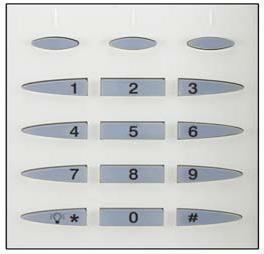 Magellan s Keypads Main Keypad Use this keypad to enter User codes, required data and/or to select desired menus.