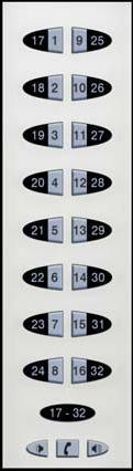 display has priority over 17-32. If the center keypad is in 1-16 mode and an alarm occurs in 17-32, the display will switch to 17-32.