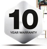 *10 year warranty when installed with an Ideal System Filter.