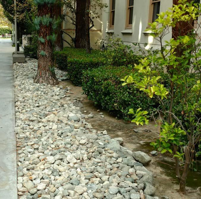152 California Friendly Maintenance: Your Field Guide Inorganic Mulches Inorganic mulches, such as decomposed granite, gravel and river rock, can help suppress weeds, but do not get rid of them.