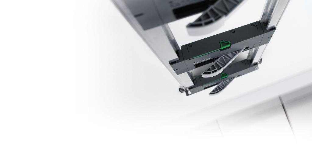 Nova Pro Drawer System Comfort is a question of technology. Soft-close the integrated damping system sets the standard.