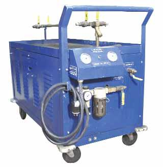 REFRIGERANT TRANSFER STATIONS TION The TS4 will pump liquid or vapor in the same way without resetting the unit. There is no risk of damage by running the pump dry or slugging it.