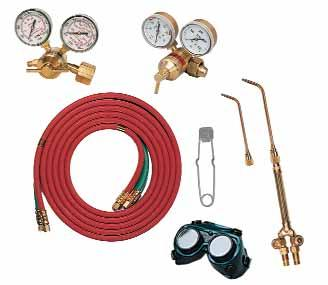 Oxy-Fuel Equipment FLAME TOOLS & ACCESSORIES WELDING AND BRAZING KITS NKA125B Kits are prematched to different tank sizes.