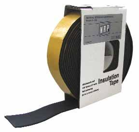 NRP cork insulation tape assures you easy and long lasting installation. Tape stays flexible to -20 F and no extra adhesives are needed. NRP rubberized cork tape adheres firmly to metal and to itself.