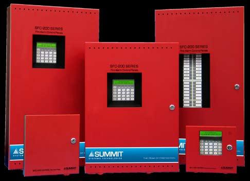 CONVENTIONAL FIRE ALARM CONTROL PANELS SFC-200 Series Fire Alarm Control Panels Description Summit s SFC-200 Series fire alarm control panels consist of six and twelve zone models which are equipped