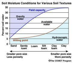 Soil Water Availability Soil has a chemical & physical attraction to water Plants