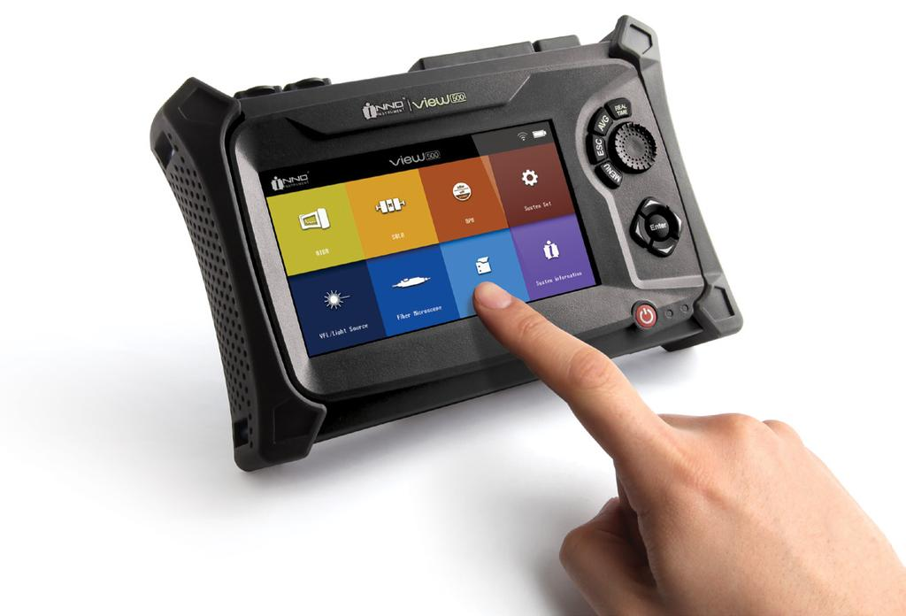 The multi-point capacitive touch screen allows for user-friendly operation.