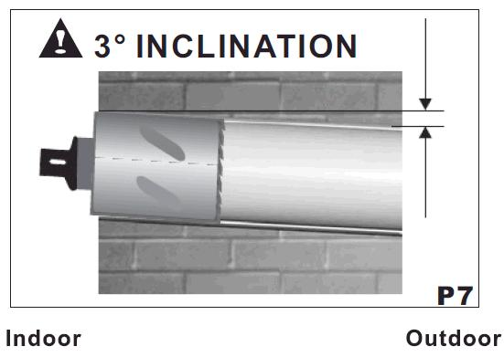 INTAKE AND OUTLET HOLES (P6) This operation should be carried out using the proper tools (diamond tip or core borers drills with high twisting torque and adjustable rotation speed).