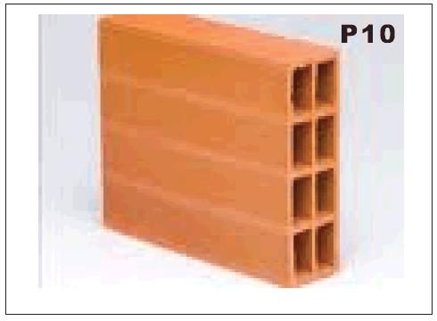 2.4 MOISTURE PROTECTING WALL EMPTY WALL PROTECTION (P10, 11, 12) If the wall is built with empty brick as shown in P10 below.
