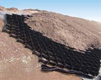 When used over a geomembrane the Erosaweb is often laid over and tied to a Trigrid geogrid About ABG ABG is a market leader in the design, development, manufacture and technical support of high