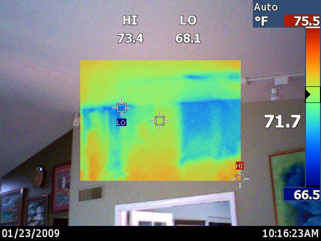 Missing and non-performing insulation at the attic