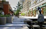 From the proposed transit station, through to retail shops and patios, users will have a direct physical and