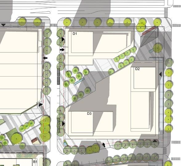 Figure 3-17: Use Diagrams KEY PLAN Figure 3-16: Cambie Street Walk Existing Tree Bicycle Share Facility 1.