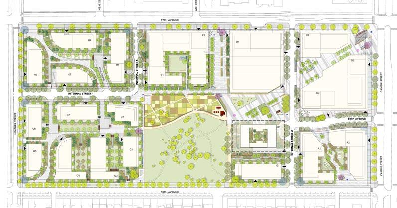 2.1.2 Urban Forestry Management Strategy (continued) Retained, Relocated, Proposed and Legacy Trees The Tree Plan for the Pearson Dogwood site includes a combination of existing mature trees to
