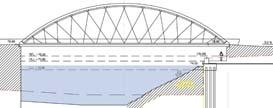 Fixed bridges could include standard slab-on-girder bridges or arch bridges. The main advantage of movable bridges is that they maximize navigational clearances.