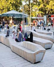 active mix of uses around open space to support all-day
