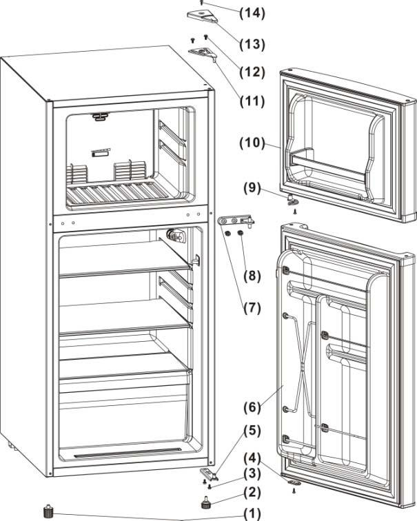 Reversing the Door Swing: Your refrigerator is built with a reversible door. You have the choice of either opening it from the left or the right side.