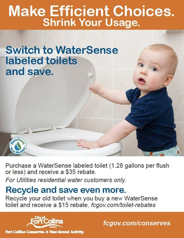 Less than 1GPF WaterSense qualified