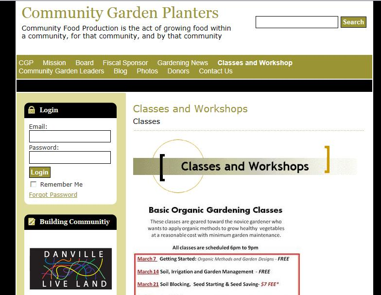 Website communitygardenplanters-org.doodlekit.