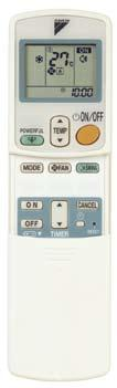 Controllers Specifications Wireless Remote Controller for FTNE25/35M Power Chill Operation Selects mode: cooling, dry, fan-only operation Cancels On/Off Timer Count Up-Down Off Timer and Night Set