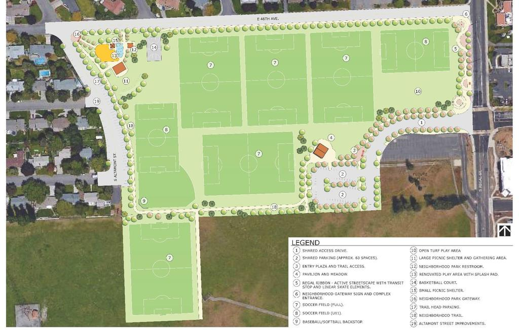 Southeast Sports Complex Revised Master Plan