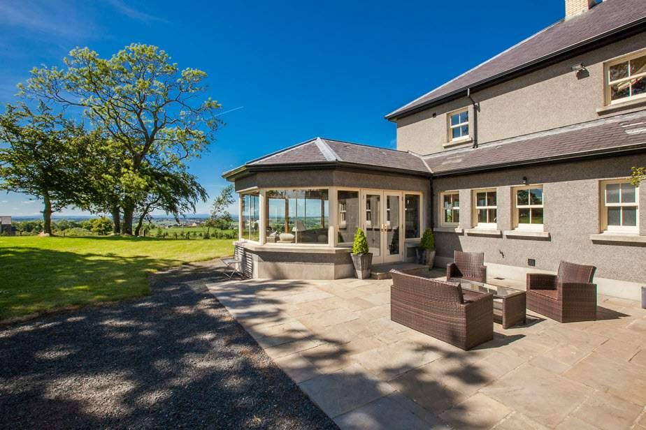 Beautiful elevated setting benefiting from breathtaking views over Belfast, Lisburn, Lough Neagh to the