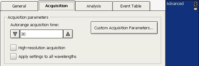Customizing Your OTDR Customizing the Acquisition Time Values To customize the acquisition time values: 1.