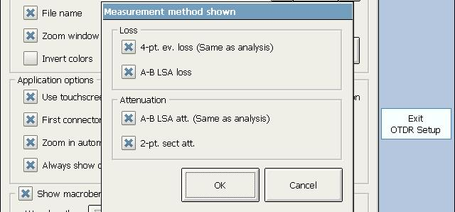 Analyzing the Results Manually Selecting the Attenuation and Loss Values that Will Be Displayed To select the attenuation and loss values that will be displayed: 1.