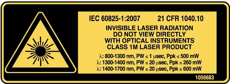 2 Safety Information General Safety Information WARNING Do not install or terminate fibers while a light source is active.