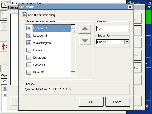 To modify the order of appearance of the selected components in the file name Items that can be included in the file name To add personalized information not