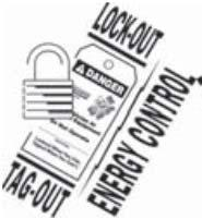 LOCKOUT / TAGOUT PROCEDURE Always perform the LOCKOUT / TAGOUT PROCEDURE of your facility before removing any sheet metal panels or attempting to service this equipment.