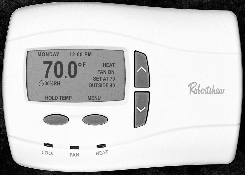 9801i 9815i 9820i DELUXE PROGRAMMABLE THERMOSTATS User's Manual Menu Driven Display Integrated Humidity