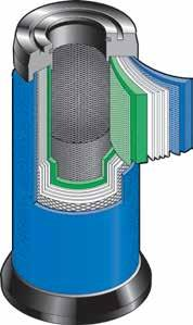 Inside-to-out air flow maximizes filtration efficiency Two-stage filtration ensures long element life Stainless steel inner and outer cores add structural integrity Uniquely blended coalescing fiber
