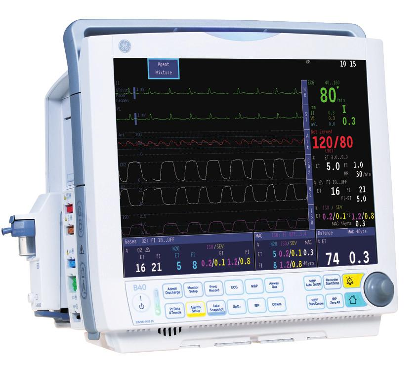 B40 Patient Monitor Affordable clinical excellence Patients with acute, life-threatening conditions need the best possible care.