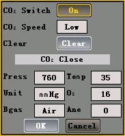 Displays and Functions 5.5.3 Setting CO 2 In the setting menu, you can choose Set CO 2 option which is the same for both mainstream and sidestream CO 2. Operations: 1.