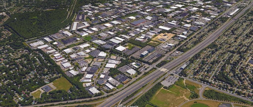 Summary Hauppauge Industrial Park Source: Google arth With 1,300 companies employing over 55,000 people, the Hauppauge Industrial Park (HIP) is the largest park in the northeast and one of the