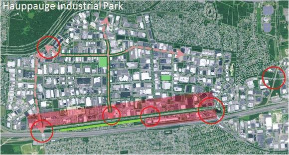 Designing a 21st Century Production mployment Center Planning Framework 1 Mixed-use development along Motor Parkway 2 ew gateways 3 Connecting corridors 4 ew public spaces orthern State Pkwy 2 3 Oser
