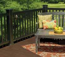 Mix or match color combinations to express your own style and create a oneof-a-kind outdoor living space. TimberTech products are available through a nationwide network of dealers and contractors.
