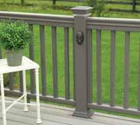 "Colors:, and Redwood Metal Baluster Kits and Stair Kits available in 6' or 8' sections in 36"" or 42"" rail heights BuilderBoard, all Solid Deck Planks, Post"