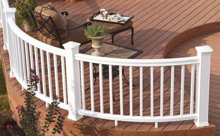 shown in Coastal White with DeckLites shown in Classic Black Railing Options & Accessories design and installation flexibility DeckLites award-winning design, chic finishing touch If your deck has a