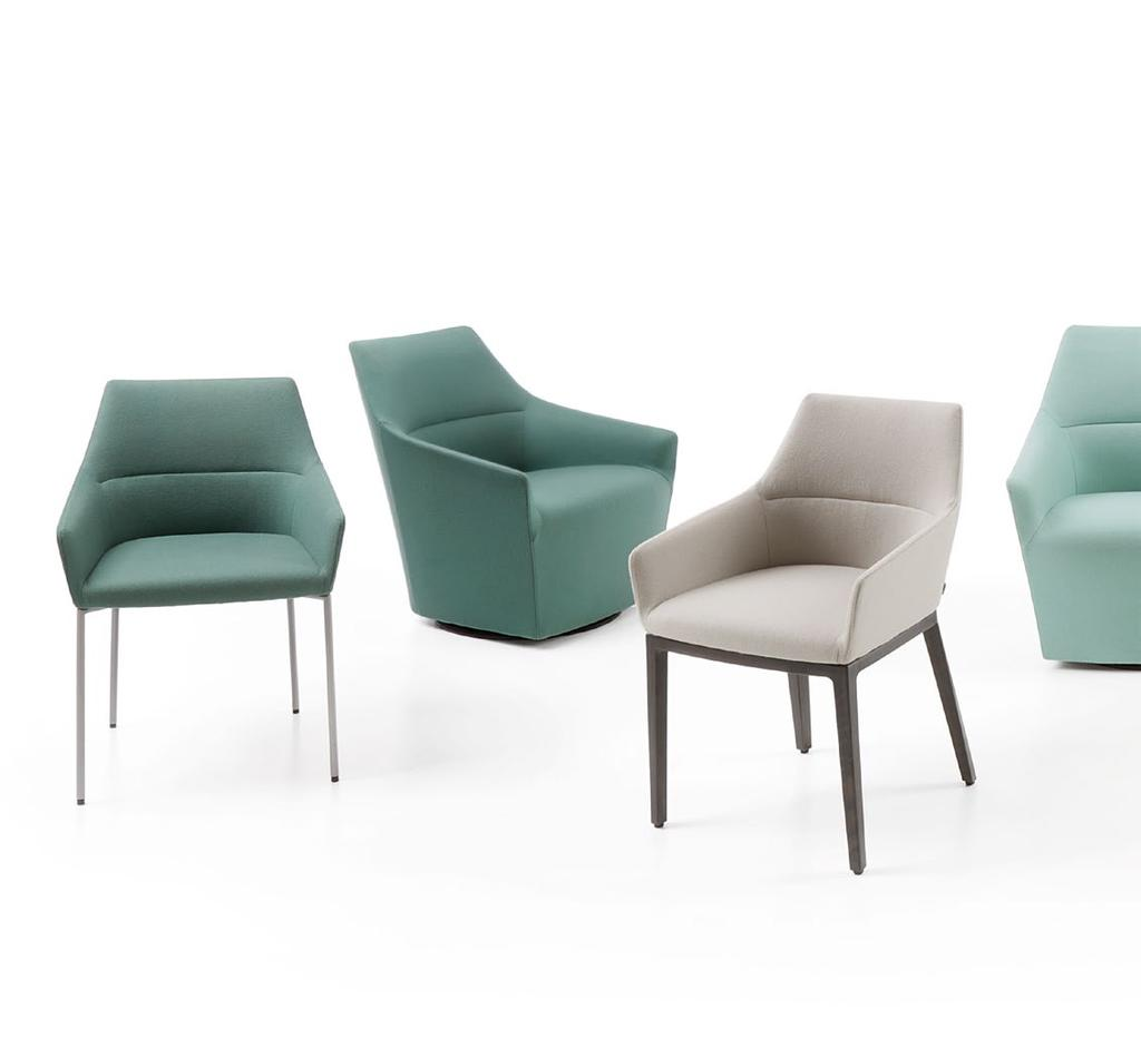 Chic Lightness, elegance and universal design these are the distinctive features of the Chic collection. A delicate cross-section of the chair makes it look unusually light.
