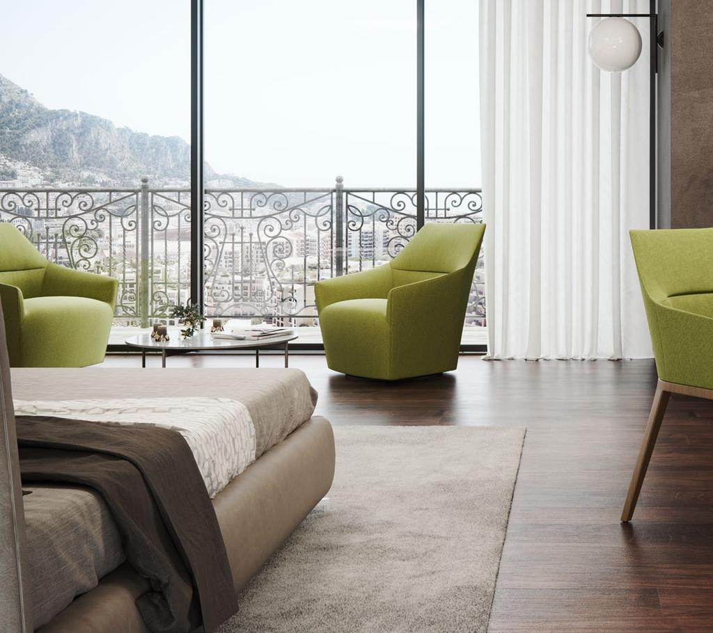 Elegance and harmony The Chic chairs are compact in form and universal in style, which is essential in less formal, but still elegant spaces, such as